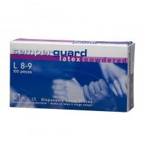 Handschoen SG wit latex gepoederd maat XL