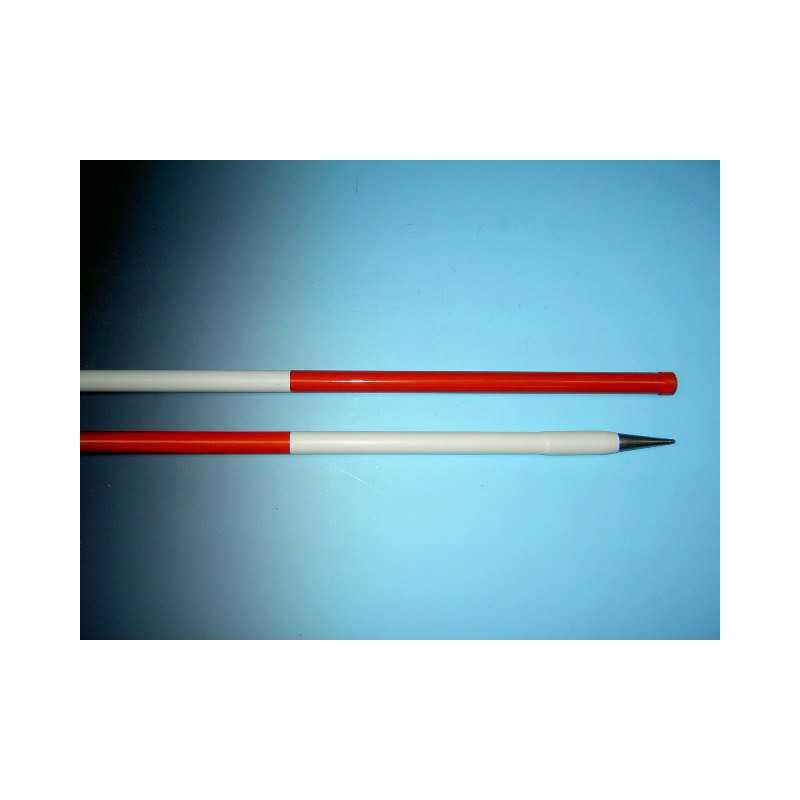 Jalonstok bovenkant rood 200cm