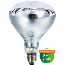 Warmtelamp Heat Plus 175W wit BR125